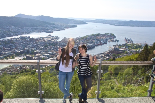 Bergen as seen from the top of Mt. Fløyen.