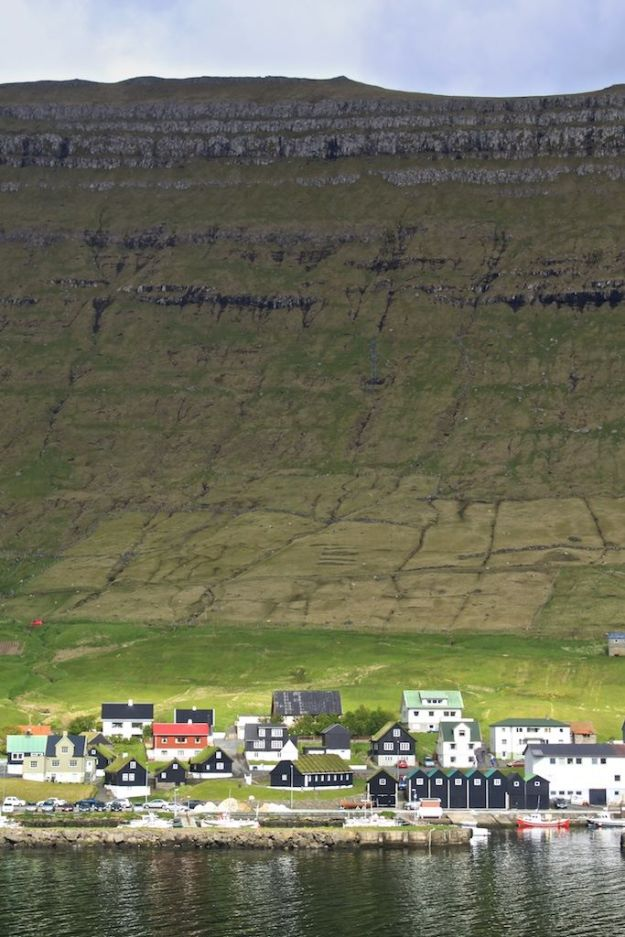 The Faroe Islands in Vertical: Here you can quickly see the difference between the Bøur, or infield, and the Hagi, or outfield, where sheep are kept in different seasons.