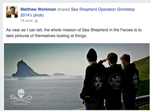 Faroese social media is exploding with commentary about Sea Shepherd's Grindstop 2014 anti-whaling campaign.