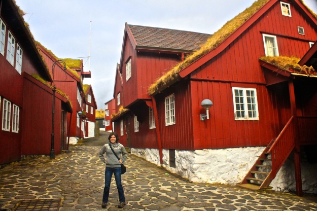 The Old Town of Tórshavn, the capital of the Faroe Islands.