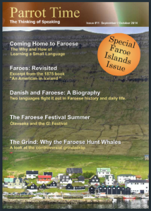 Norðragøta on the cover of Parrot Time's special Faroe Islands issue.